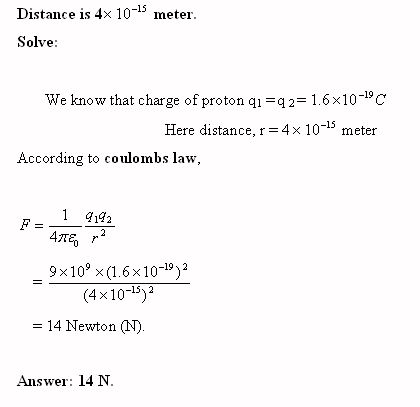 coulomb law problem