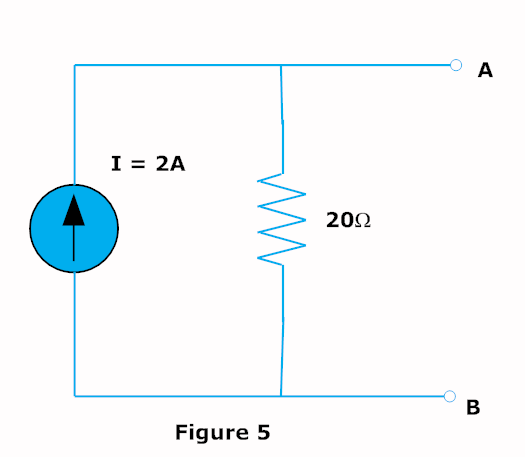 current source to voltage source