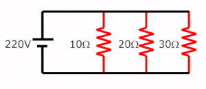 same voltage in parallel connection