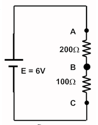 Example of Voltage divider rule