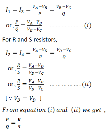 formula of wheatstone bridge