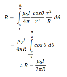 the biot savart's formula