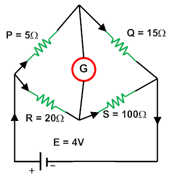 unbalanced wheatstone bridge in parallel