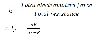 total series cell current