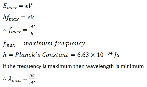 Equation of x ray